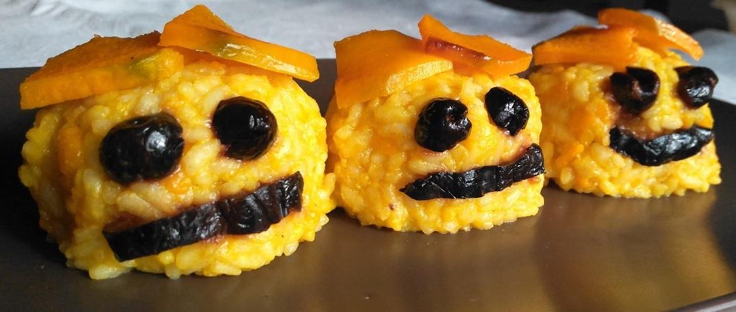 halloween zucche di riso integrale
